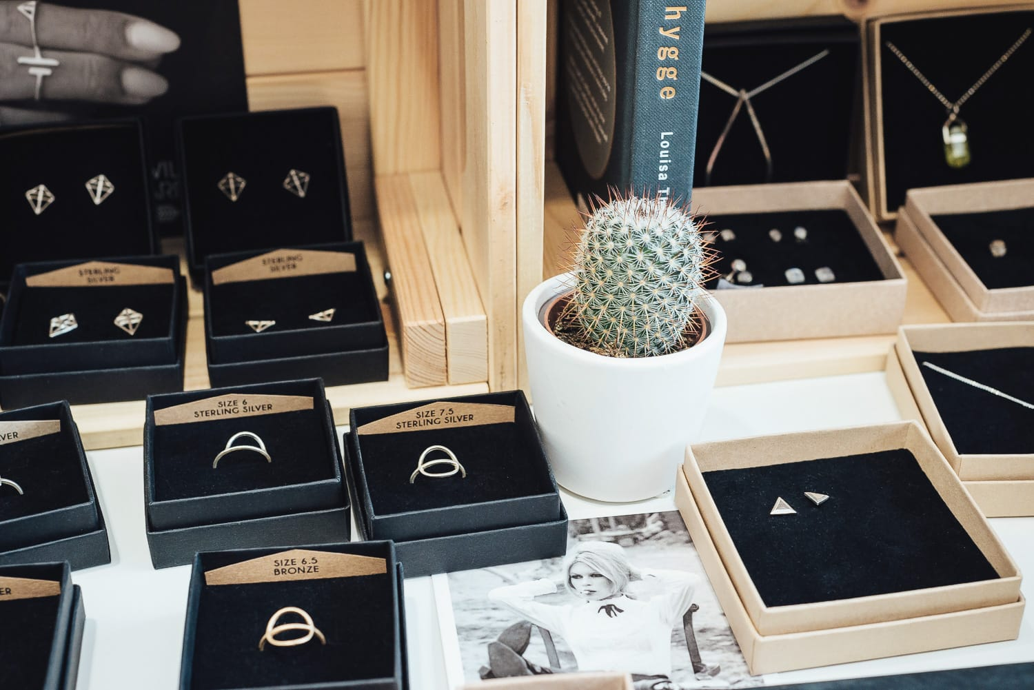 jewellery at the Ecosphere store in Stockholm