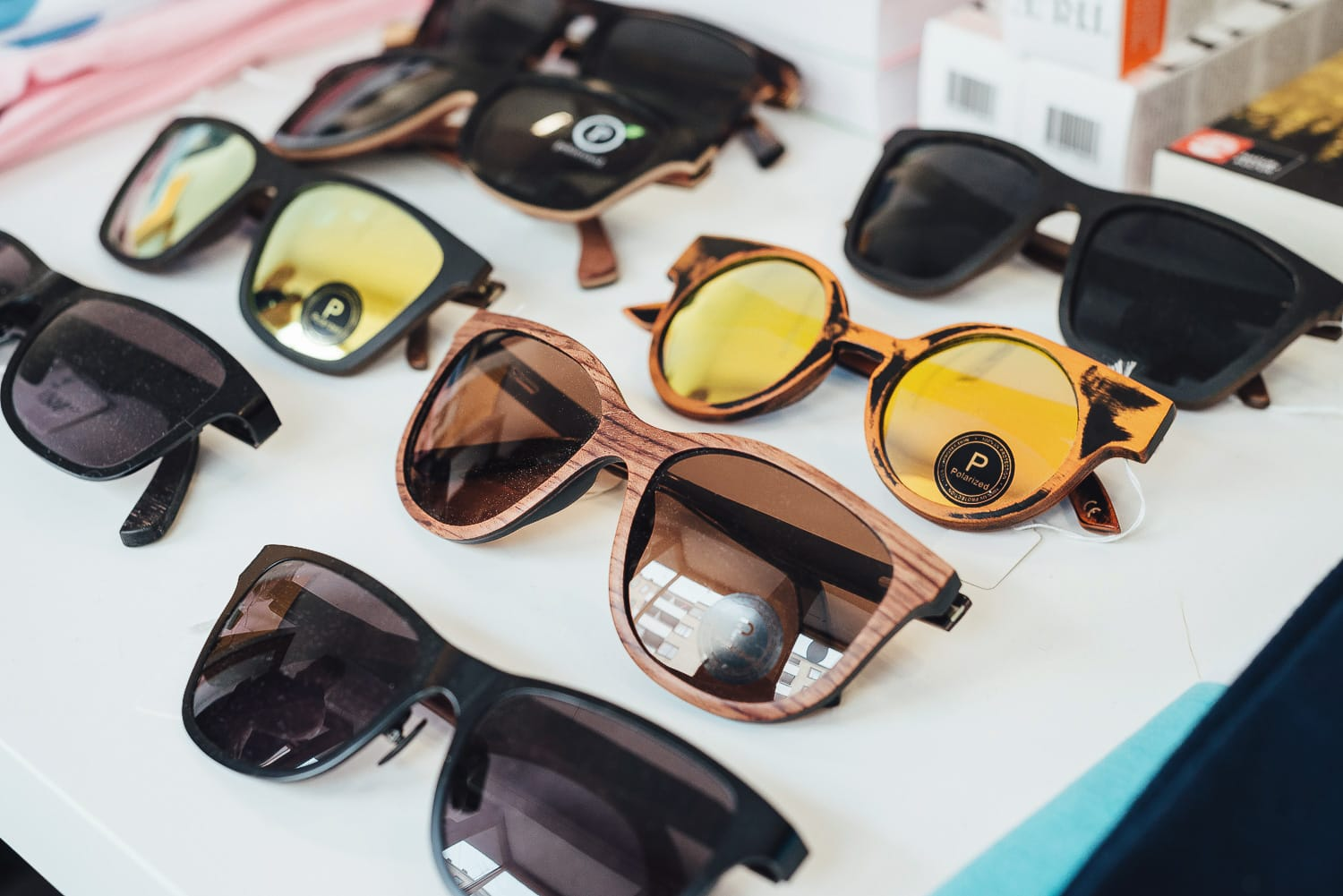 Sunglasses on display at Ecosphere