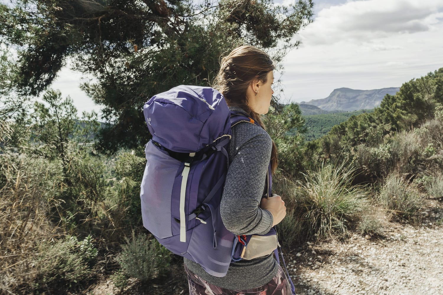 Woman hiking in Spain