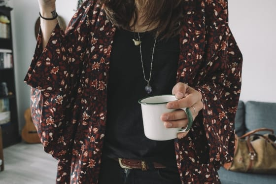 coffee and kimono