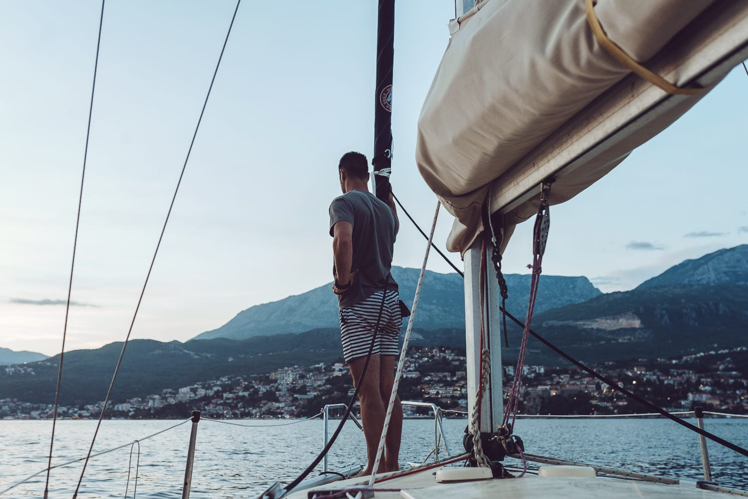 Sailing in the bay of Kotor with Montenegro Outdoors