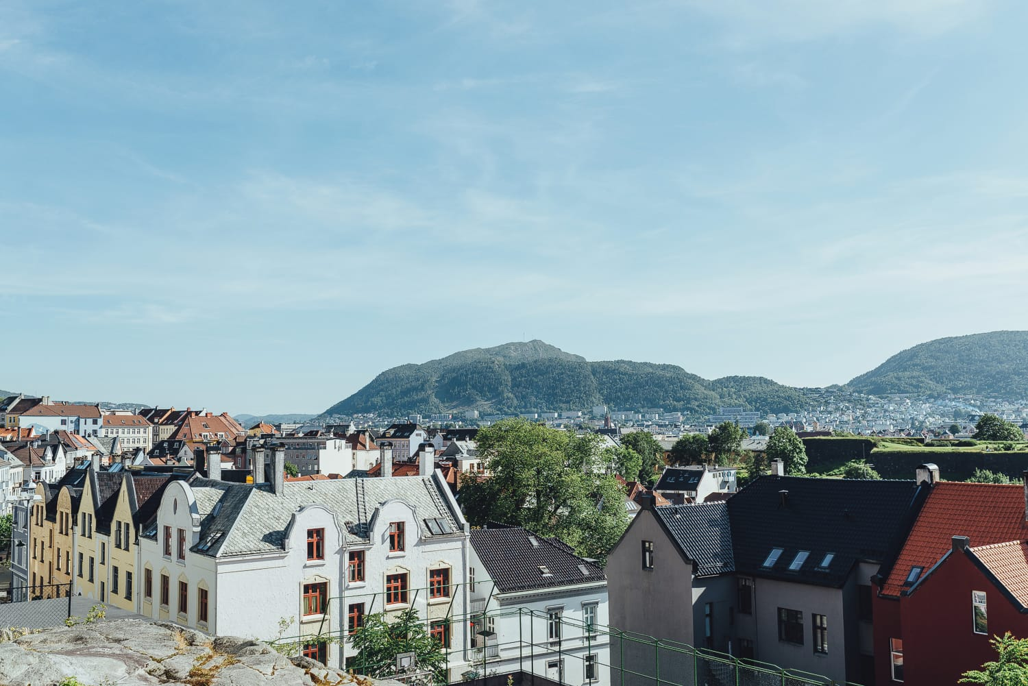 Bergen, a picturesque city between mountains
