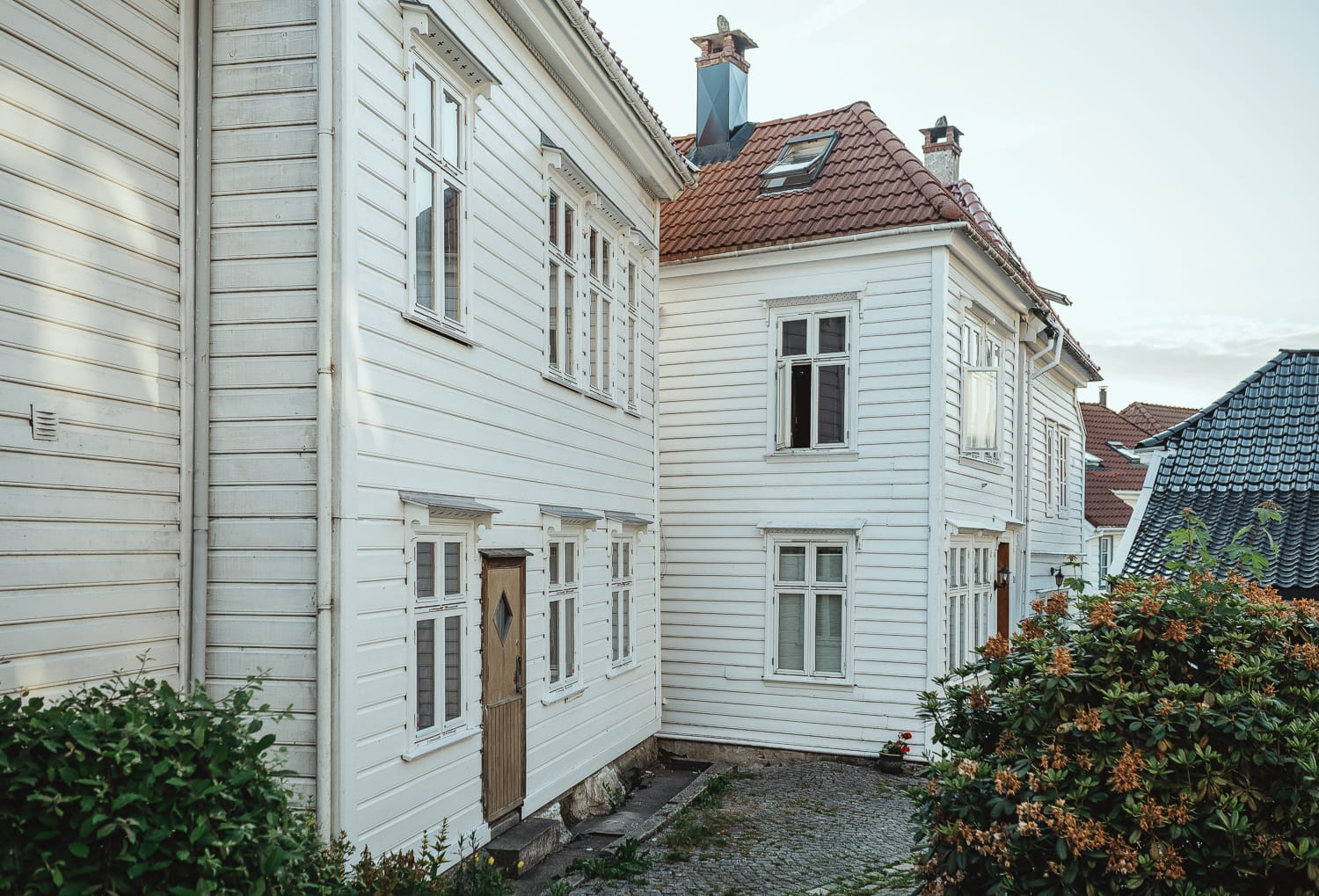 Cute houses in Bergen