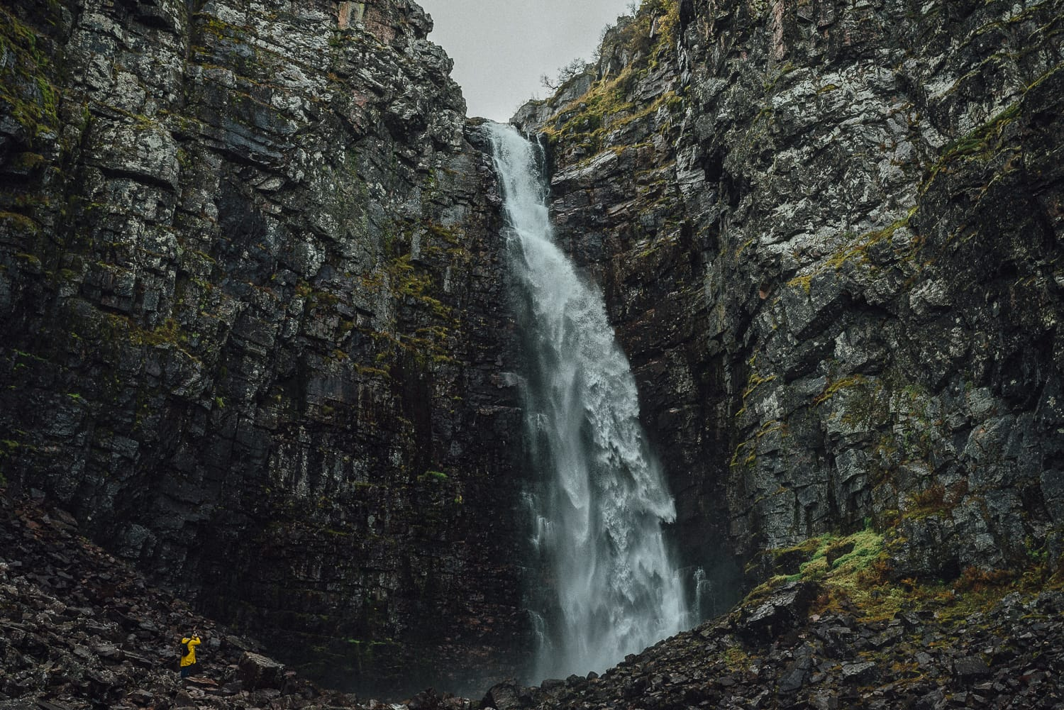 a large waterfall in Sweden