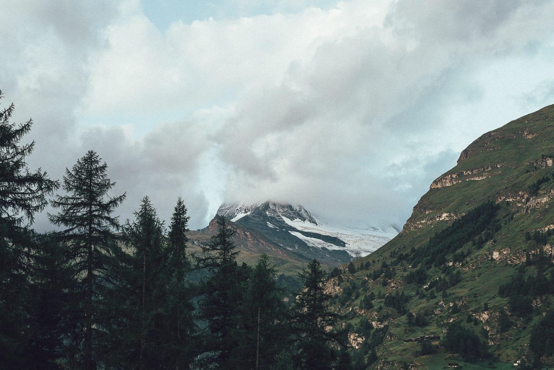 The Matterhorn hiding behind the clouds