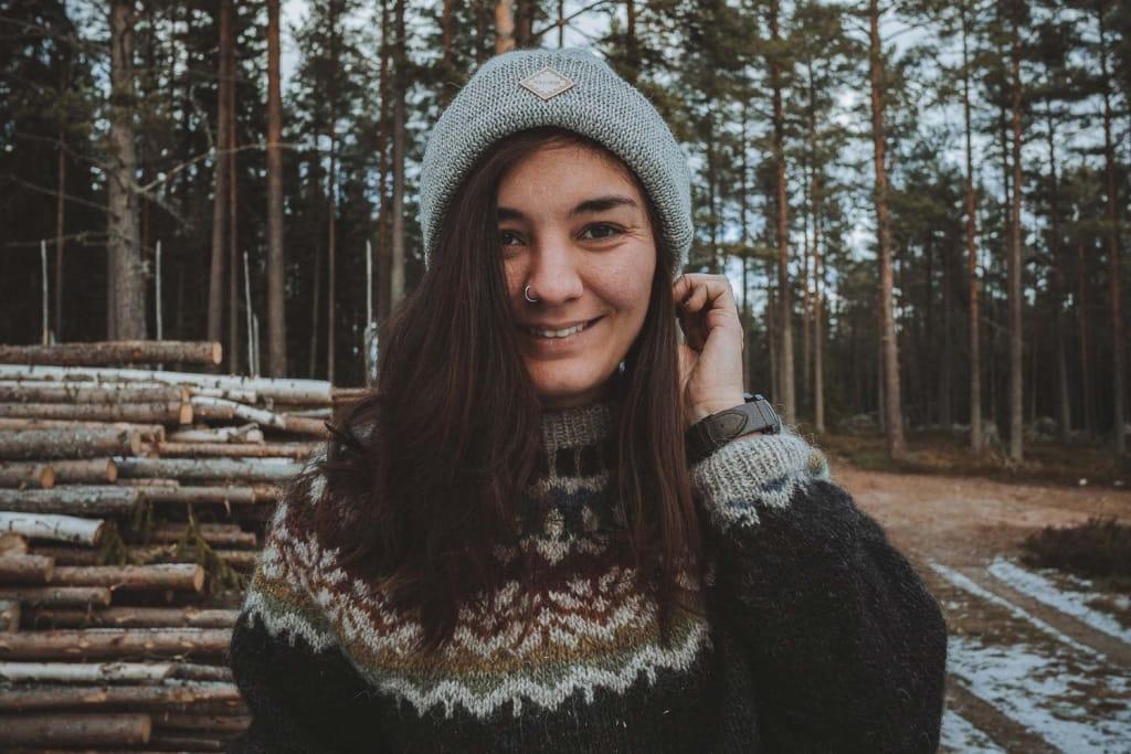 Self portrait of Rania, Northbound Journeys
