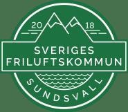Friluftskommun Sundsvall symbol mörkgrön 2018