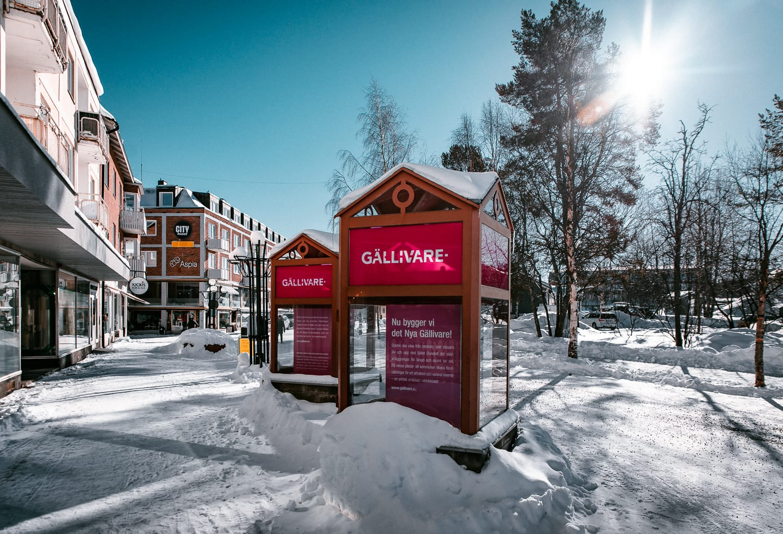 The town Gällivare