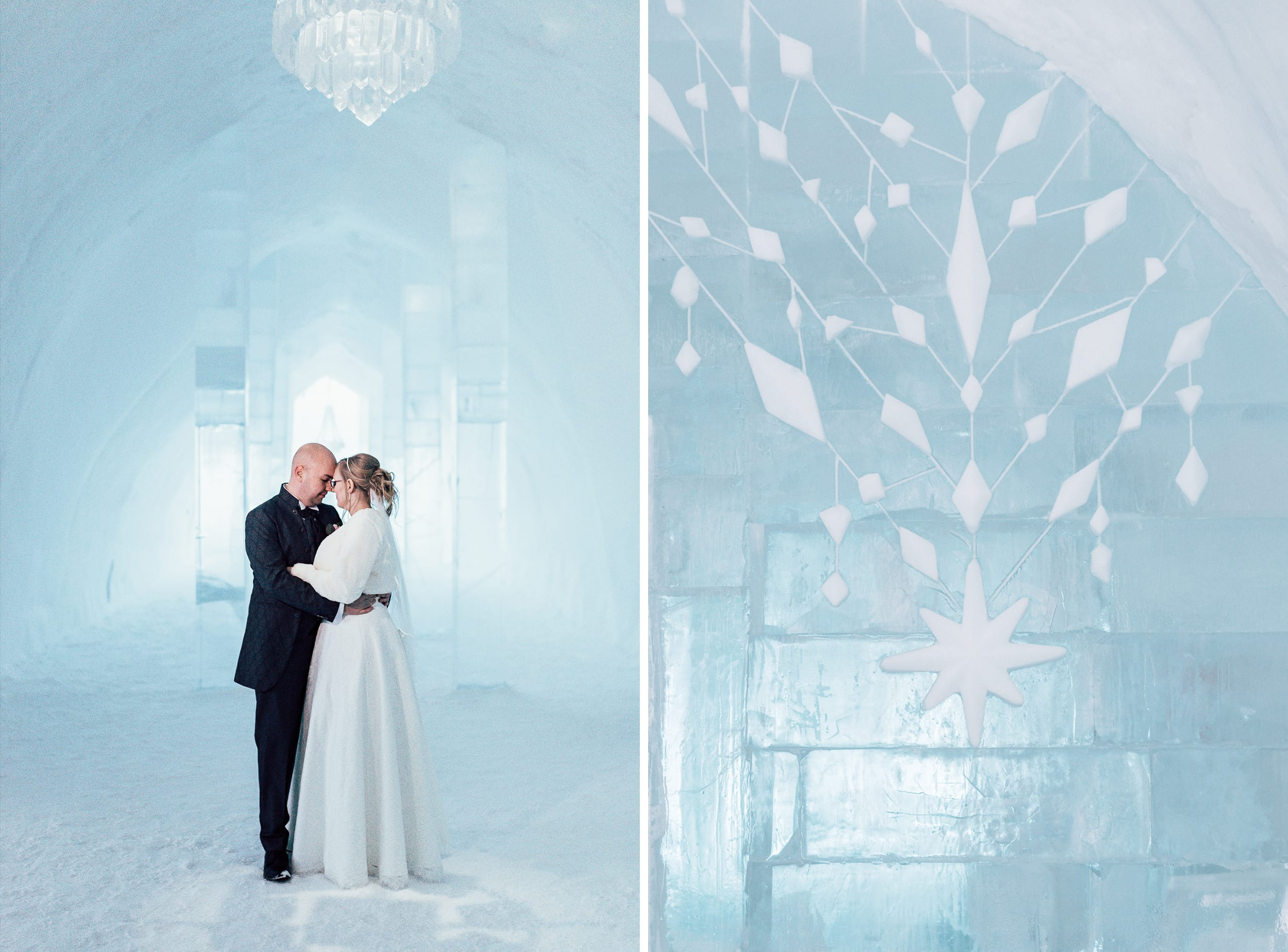 Wedding at the Ice Hotel in Jukkasjärvi