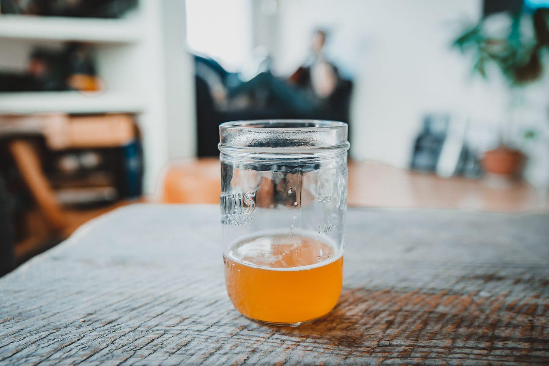 Beer in a mason jar