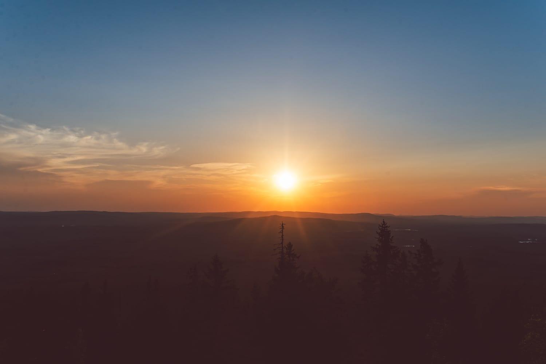 Sunset at Ärteråsens Fäbodar, Furudal in Dalarna