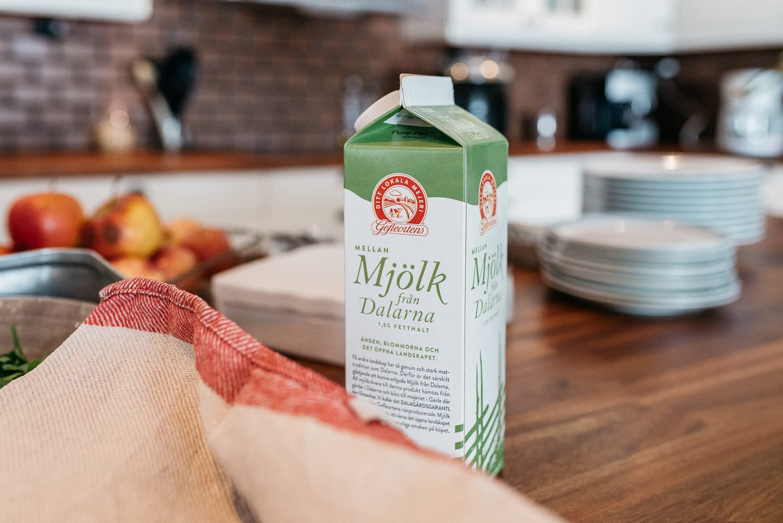 local milk from Dalarna