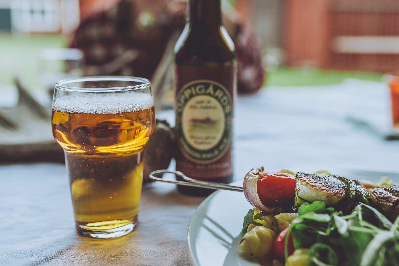 oppigårds beer and bbq dinner