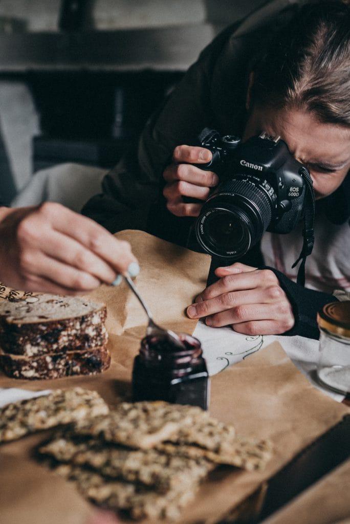 Woman taking food photos