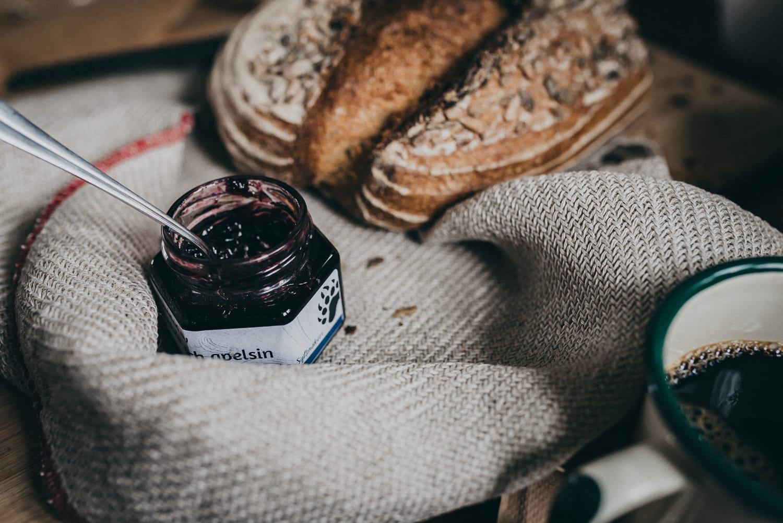 Marmalade and bread