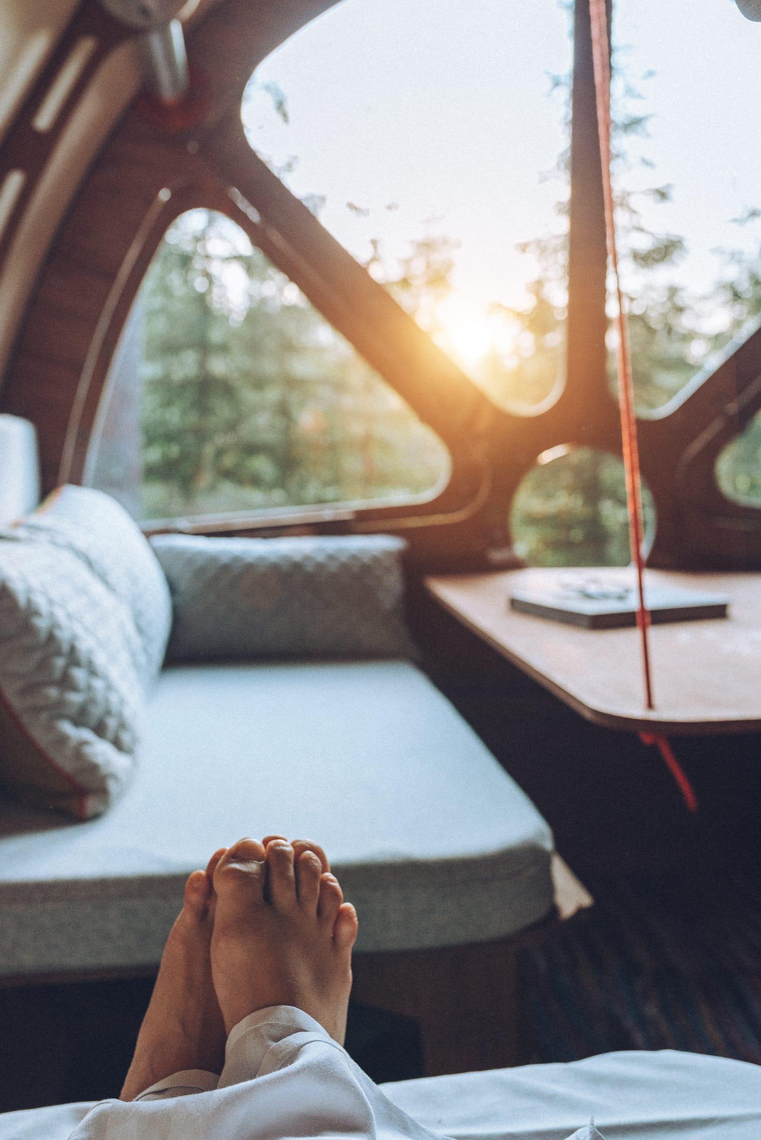 Morning in a cabin at Marcusgården, Dalarna
