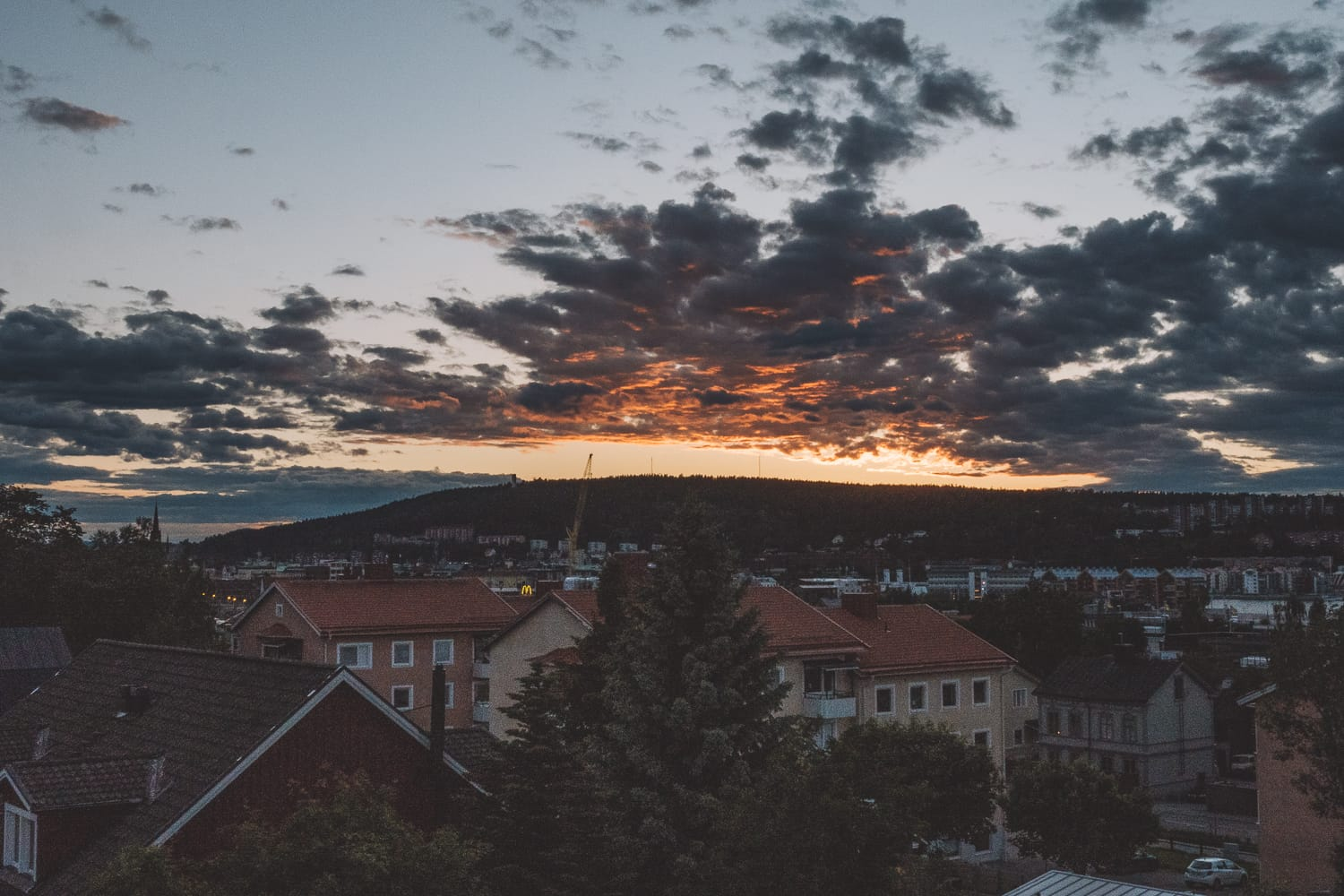 Sundsvall after sunset