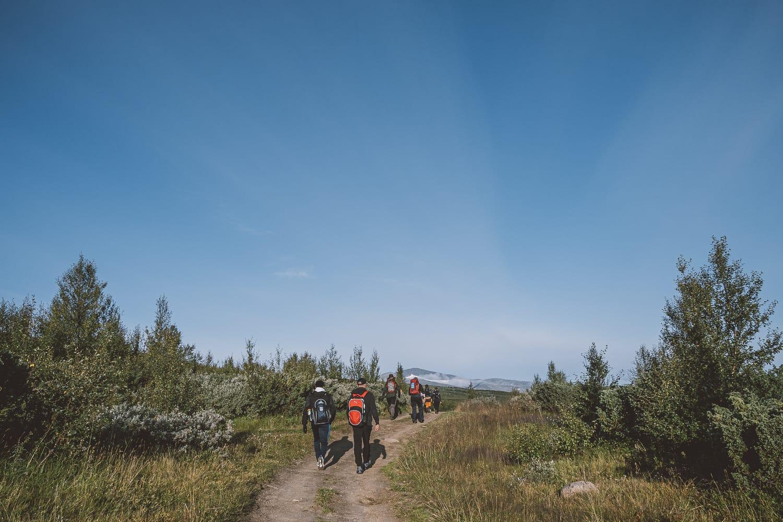 group of hikers in Ljungdalen