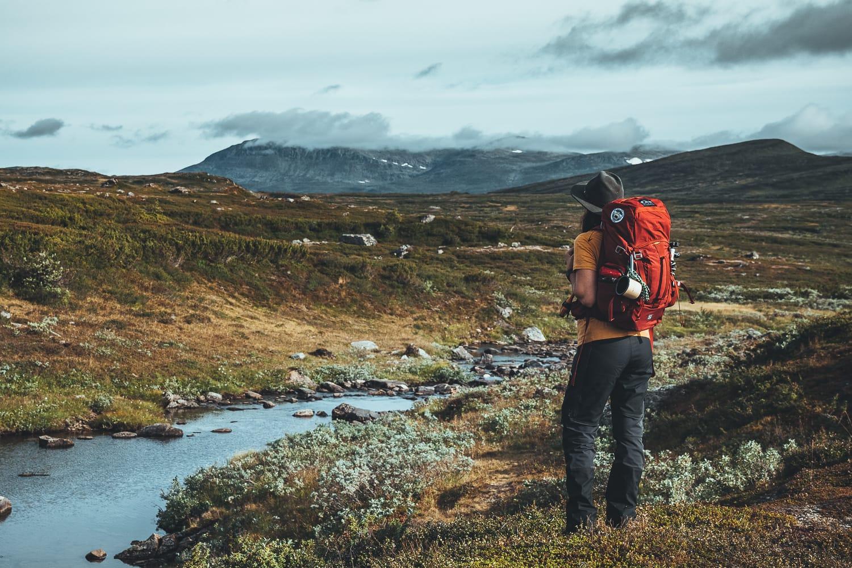 female hiker in Ljungdalen