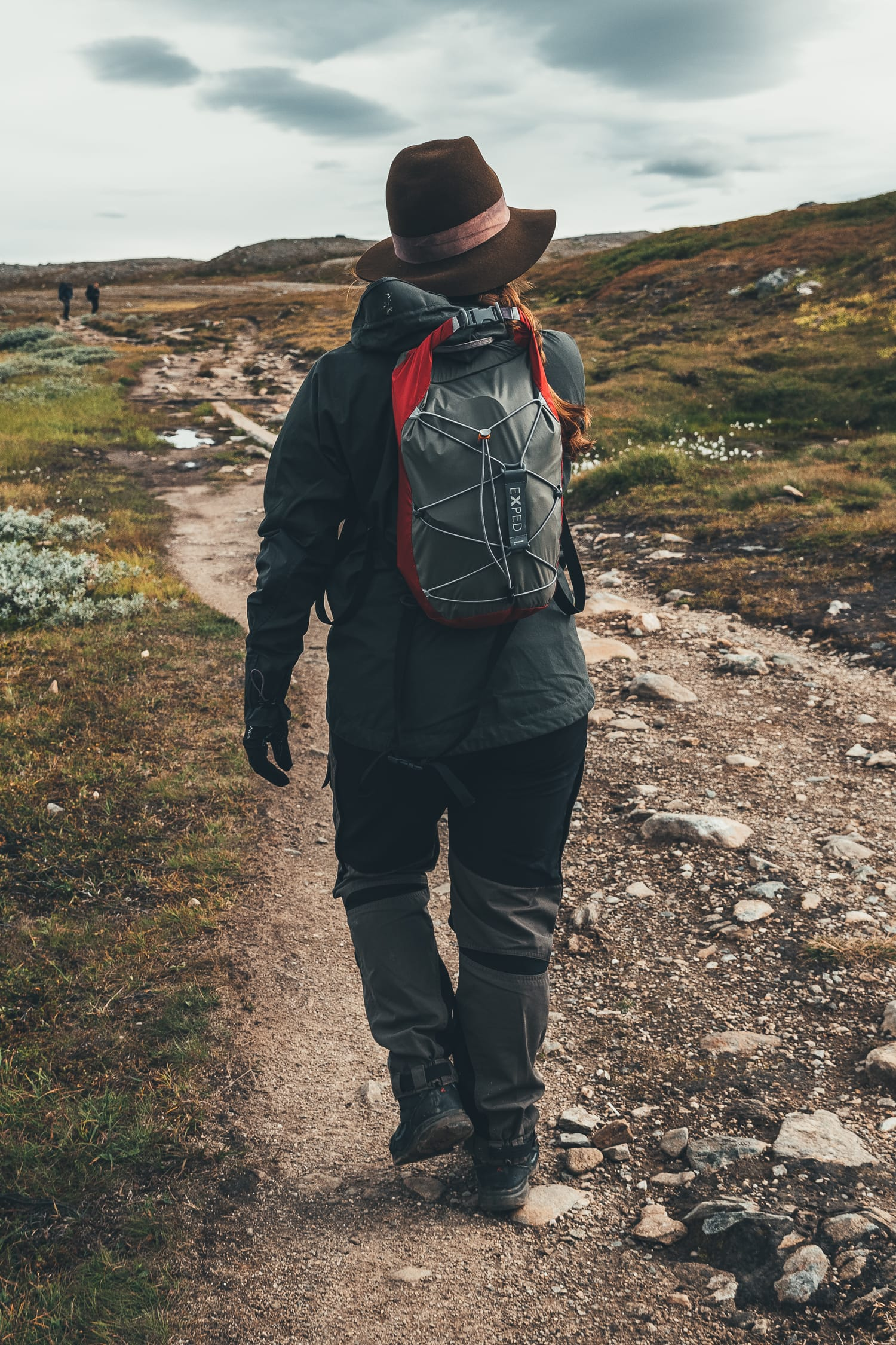 female hiker in Ljungdalen