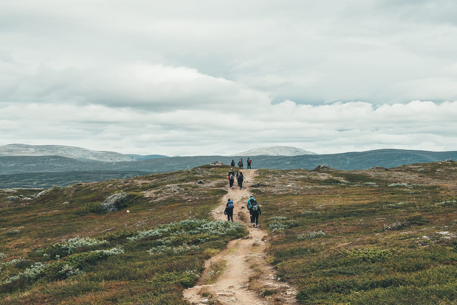 hikers in Ljungdalen