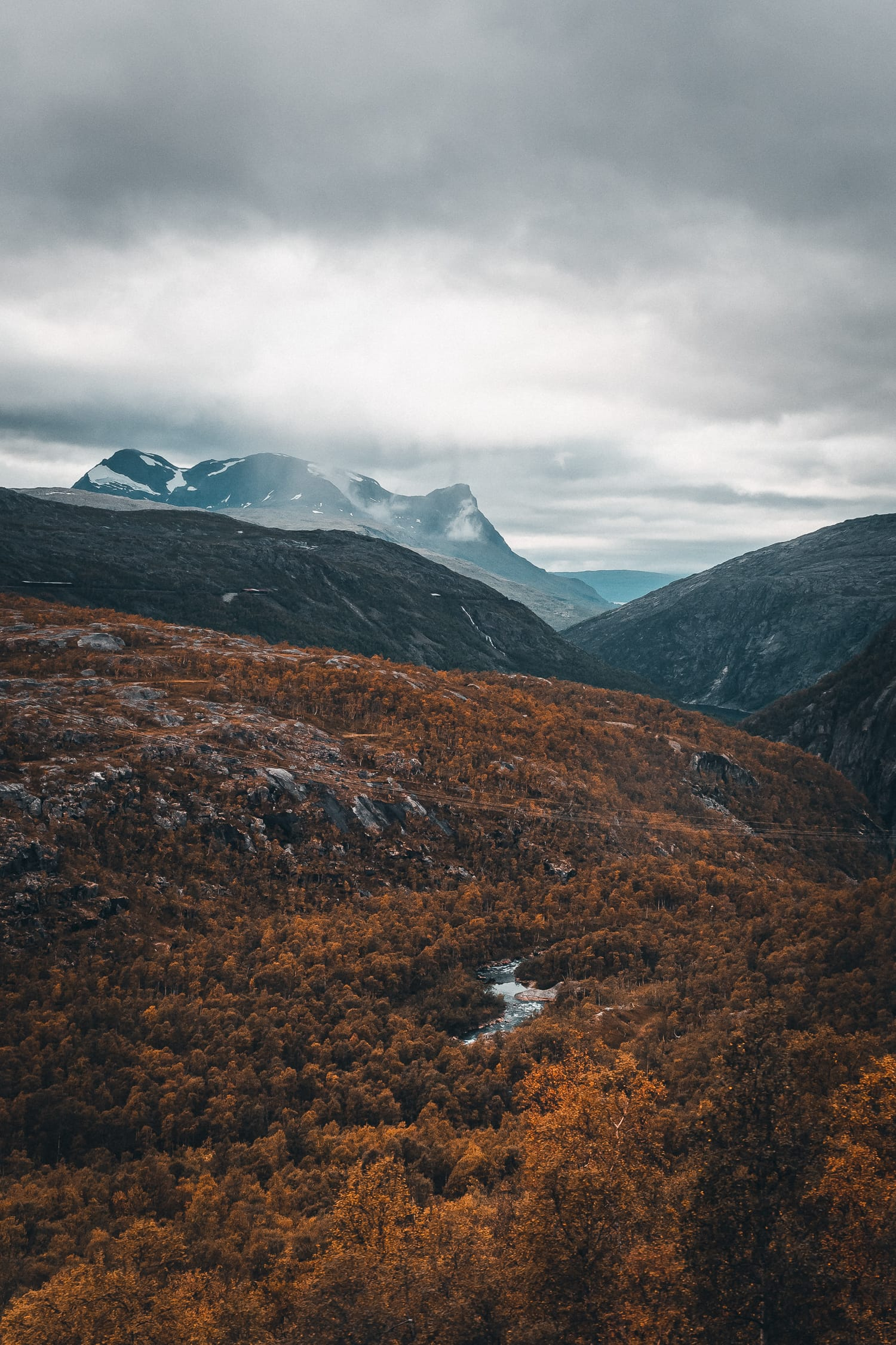 autumn in the mountains of Norway