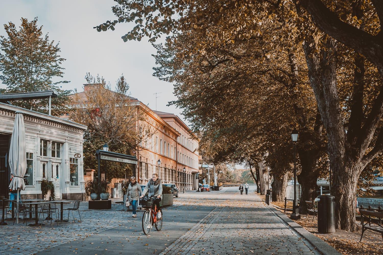 sunny autumn day in Turku, Finland