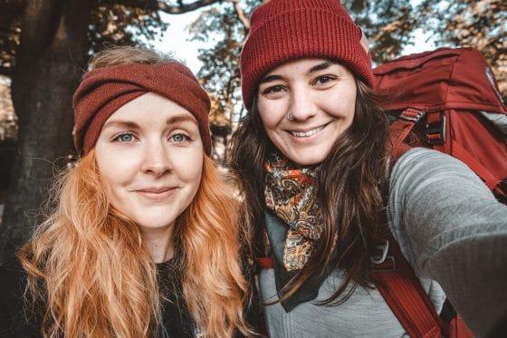hikers selfie before starting the St Olav Waterways pilgrimage