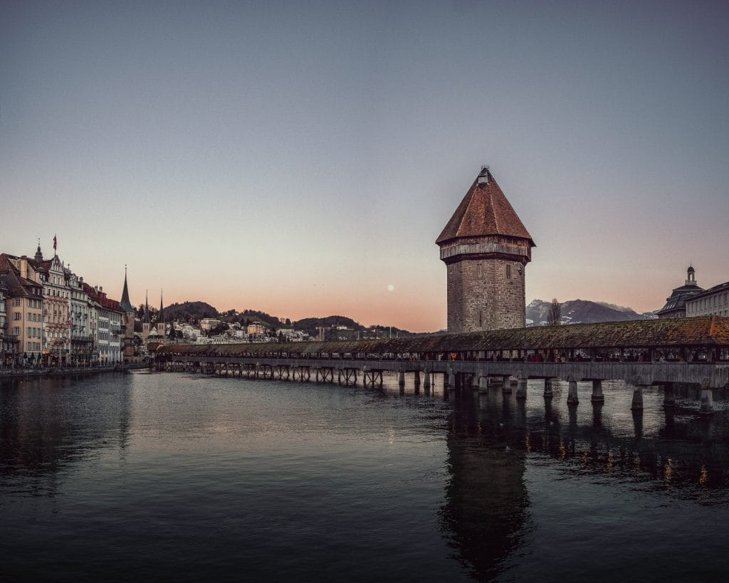 old medieval bridge in Lucerne