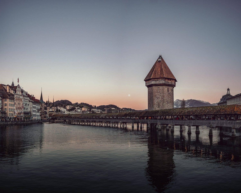 old medieval bridge in Lucerne