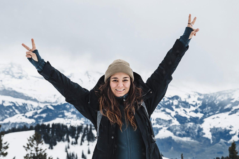 woman happy on Mount Rigi