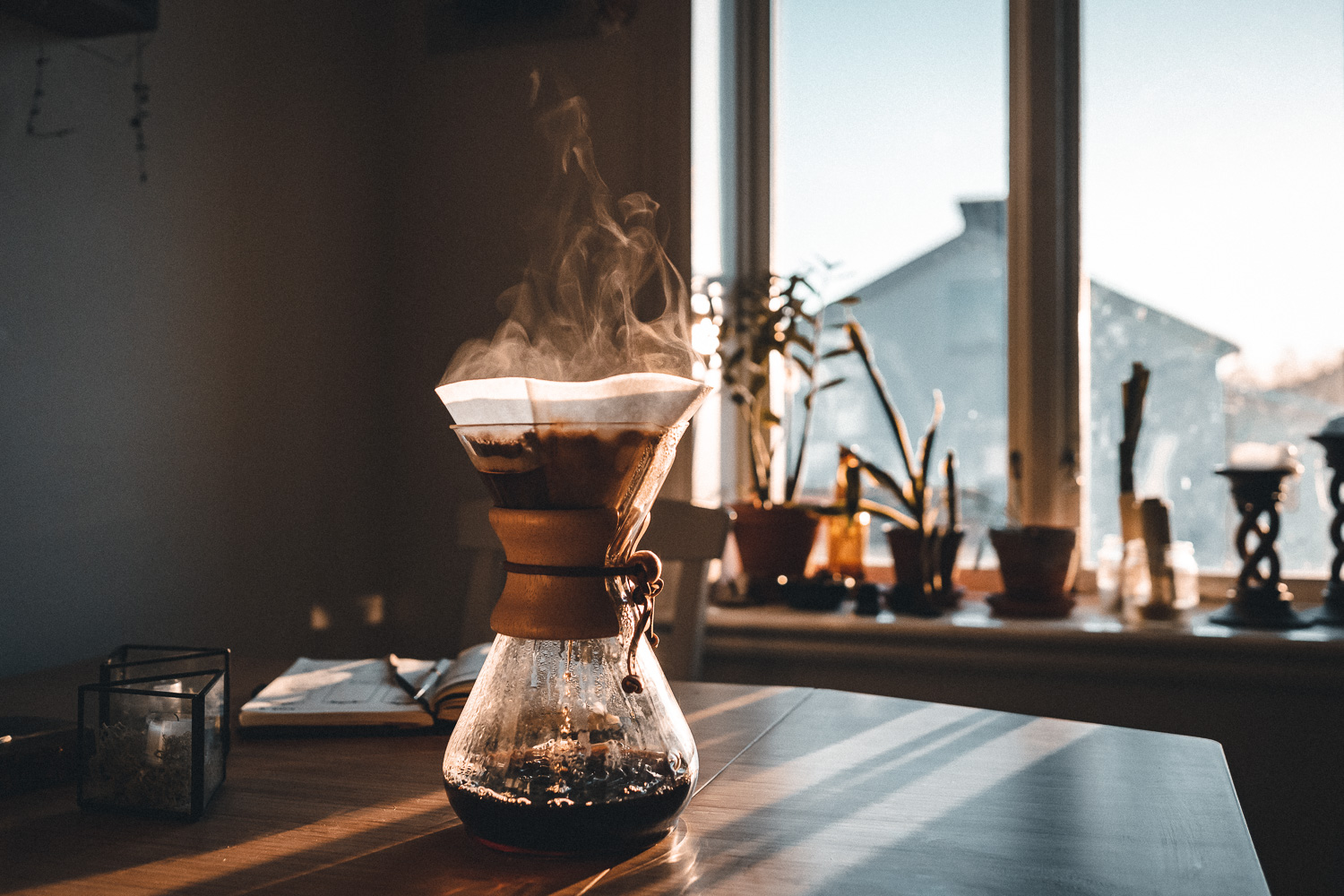 Morning coffee in a Chemex