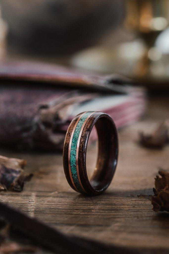 bent wood ring