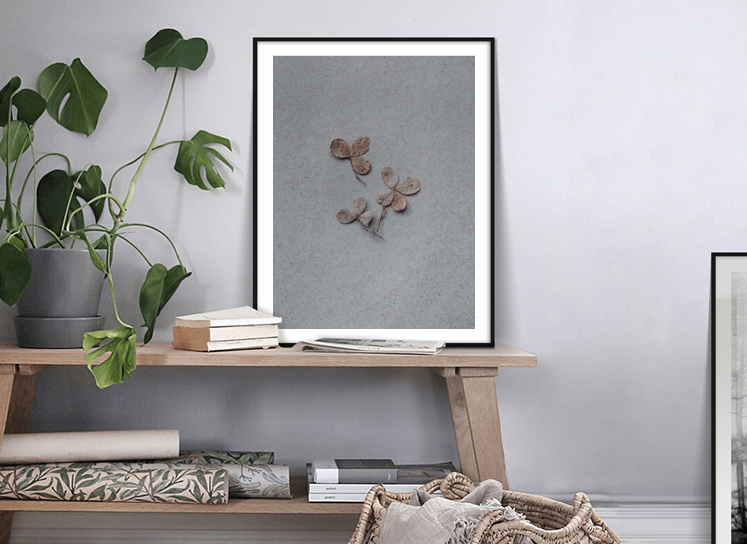 floral photo print
