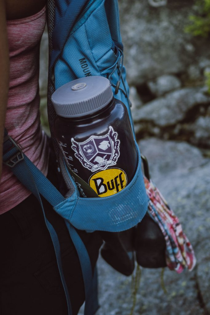 Nalgene and backpack
