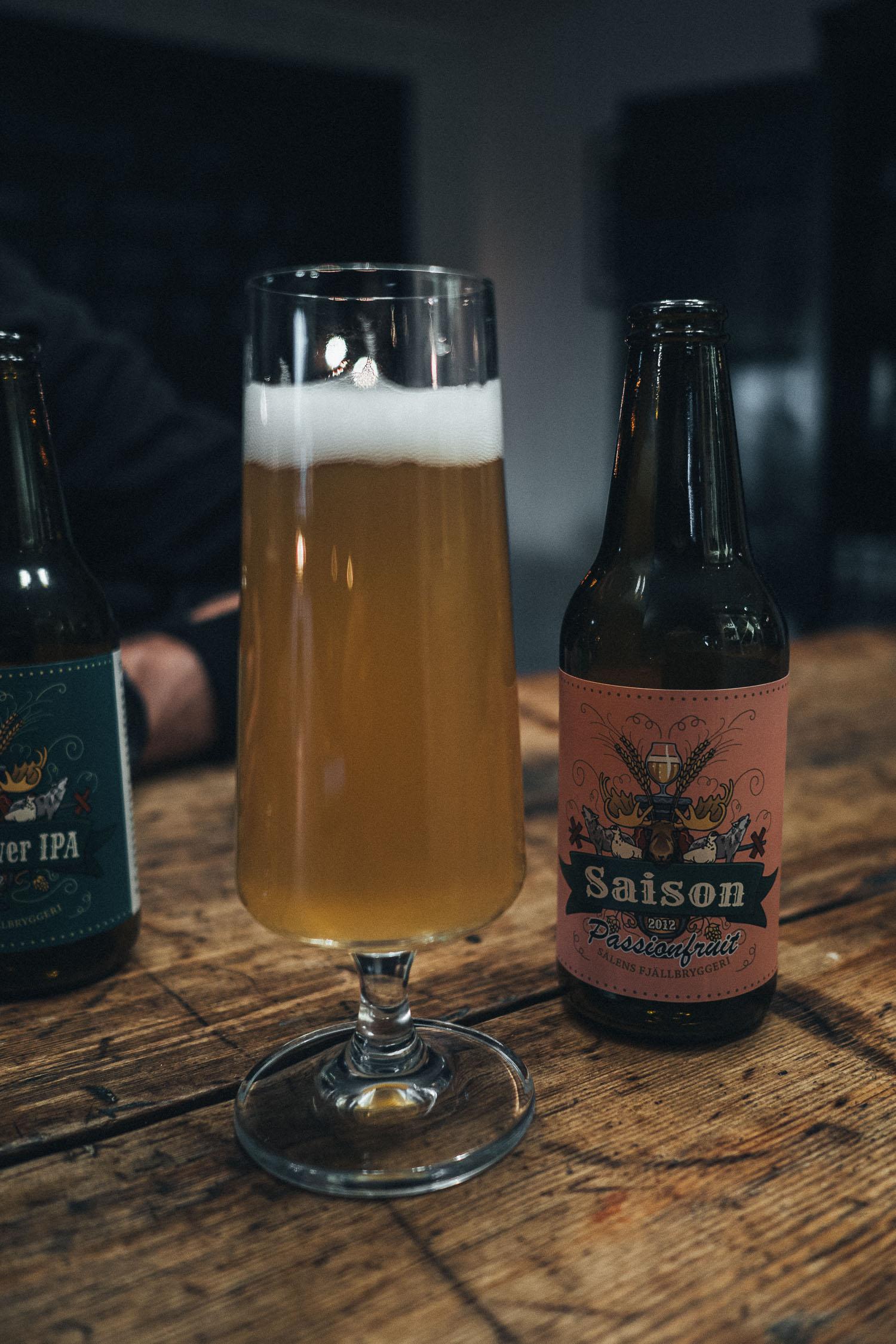 Local beer from Sälens Fjällbryggeri