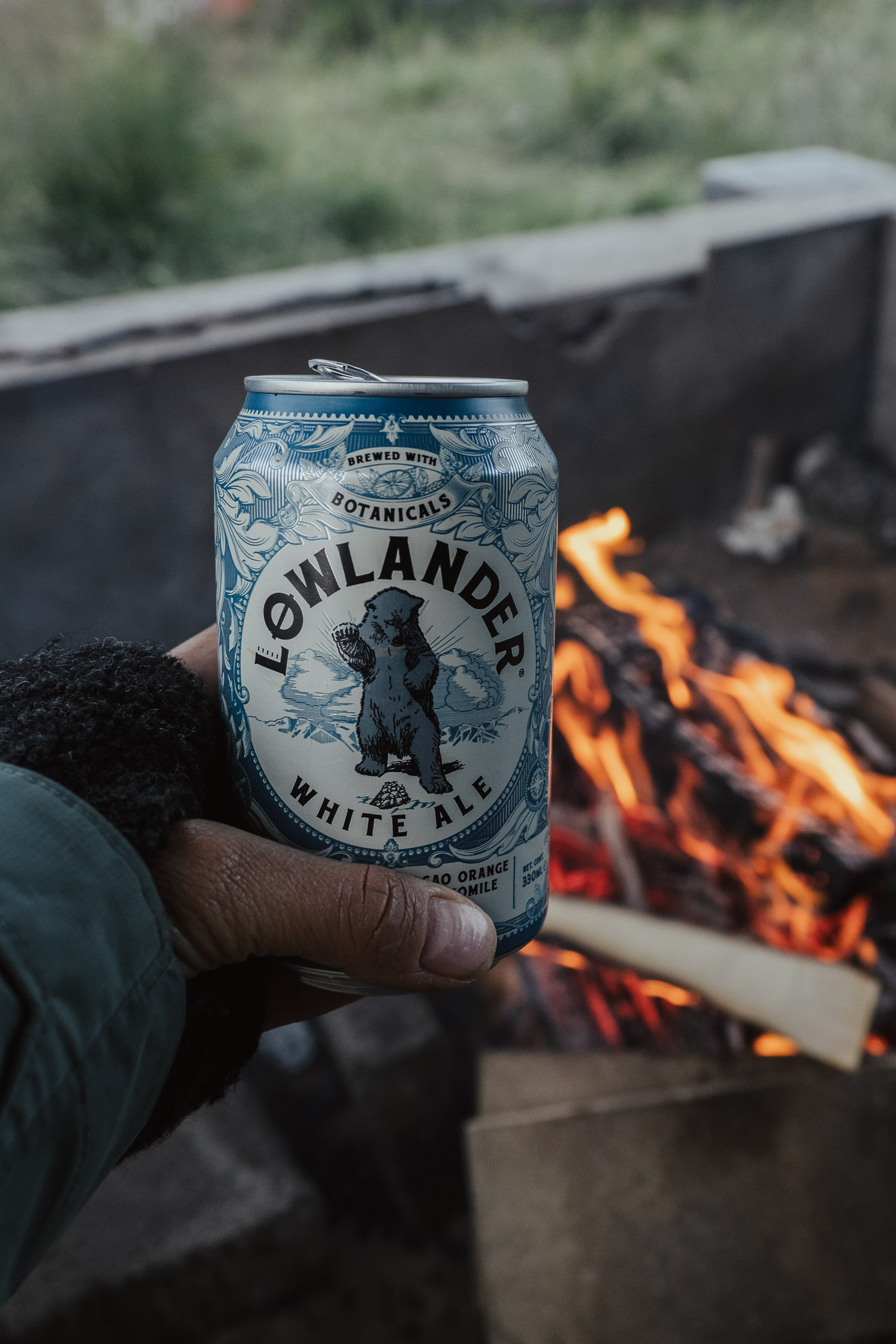 beer by the fire