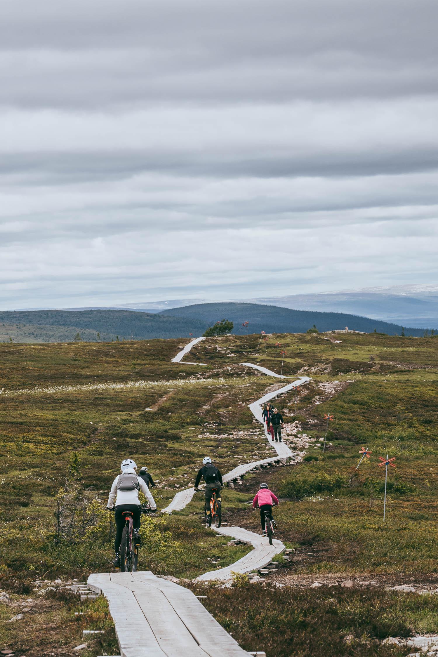 mountain biking in Sälen