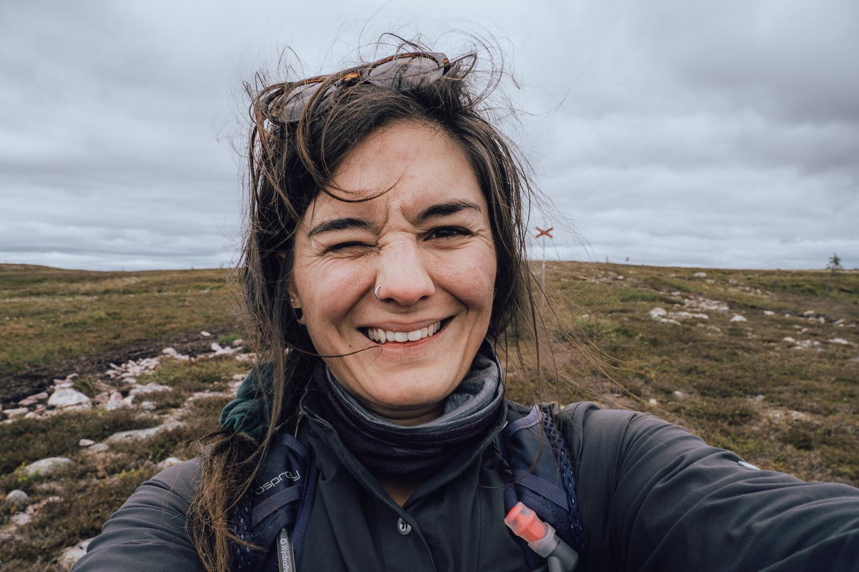 Female hiker in Sälen