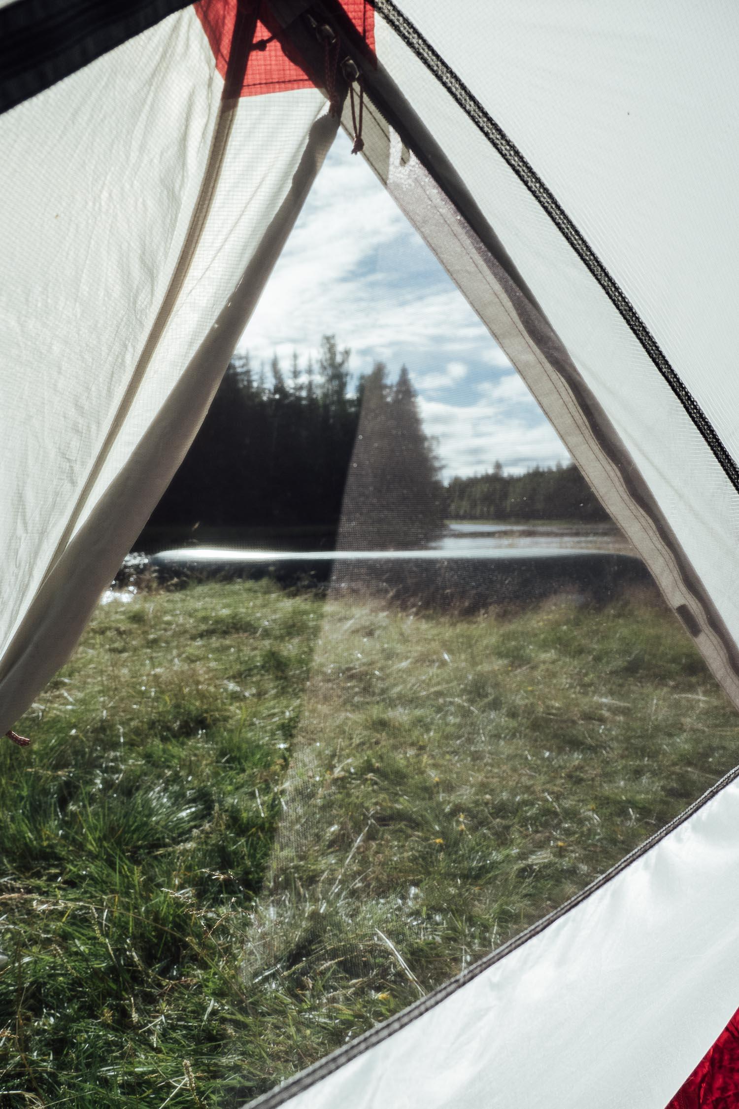 morgon i tält