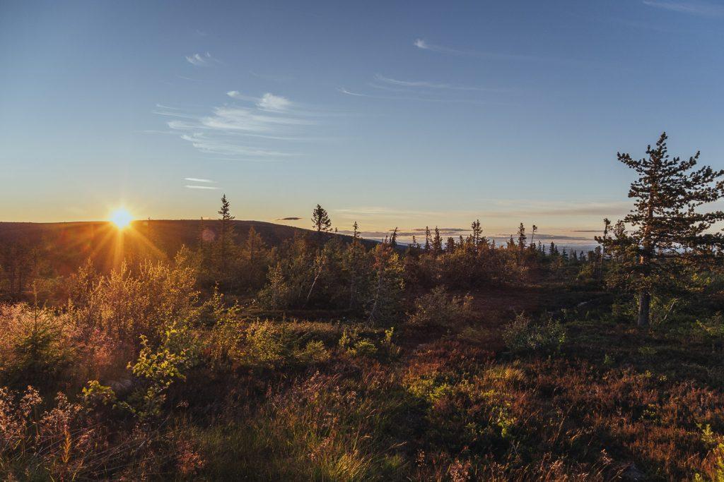 solnedgång på Sälfjället