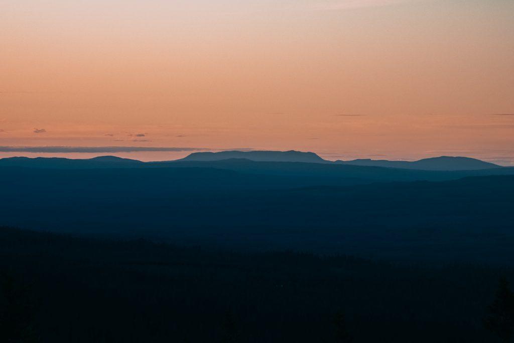 Solnedgång från Sälfjället