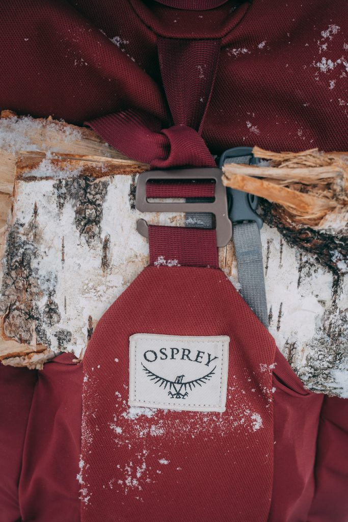 osprey backpack and firewood