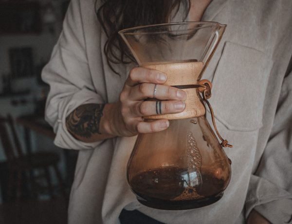 Chemex pot of coffee
