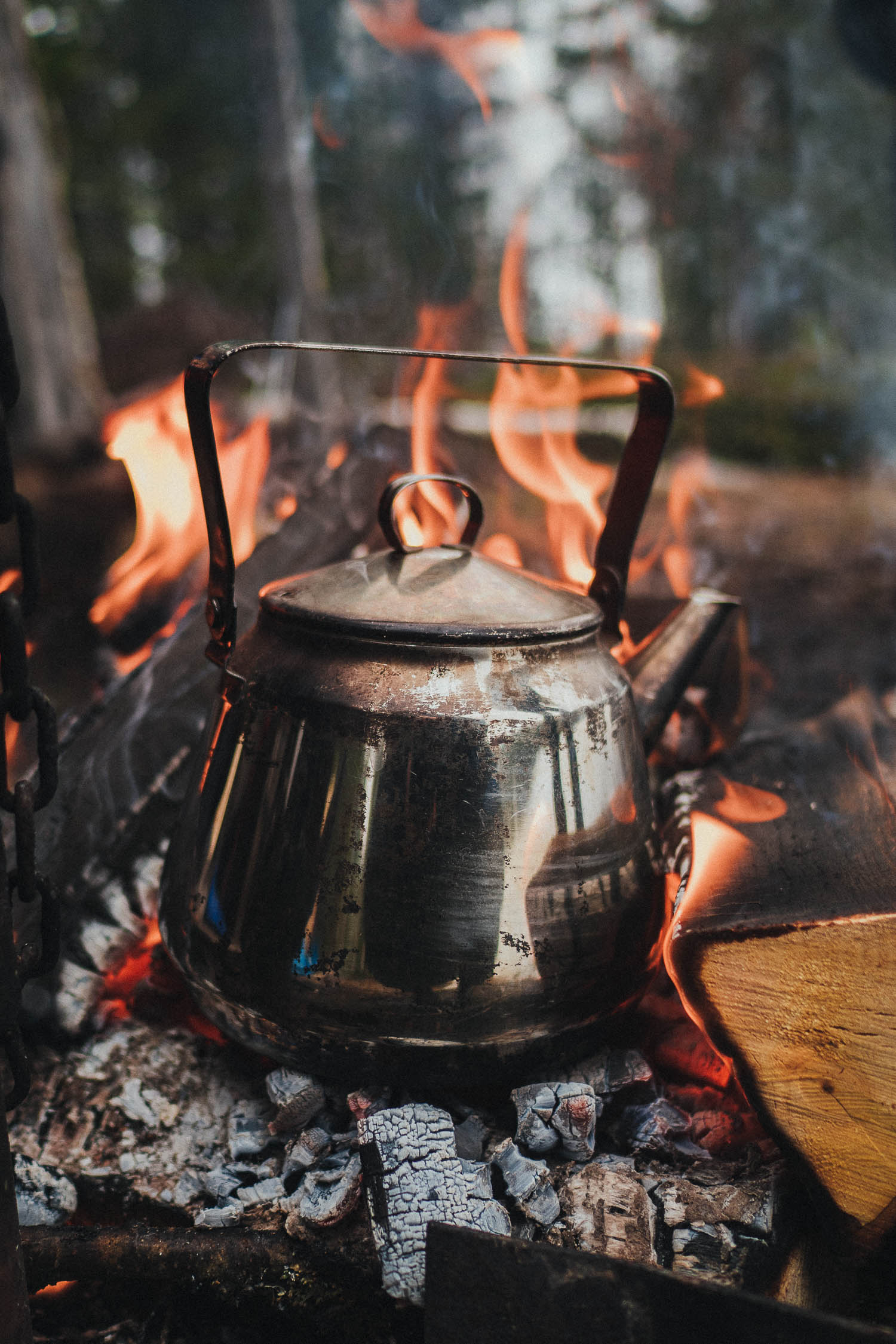 coffee over open fire