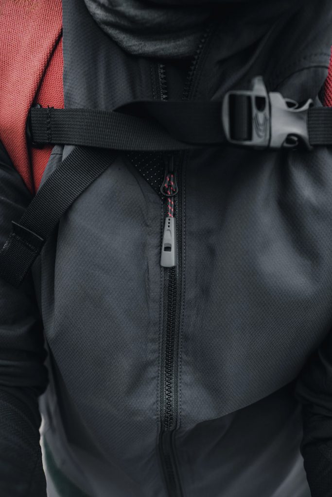 close up of Klättermusen NAL Jacket