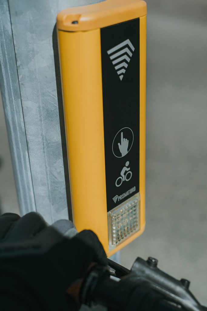 bike switch at a crossing