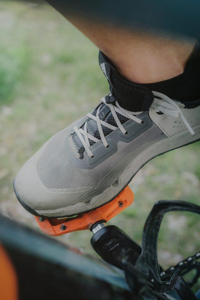 bike shoe on pedal